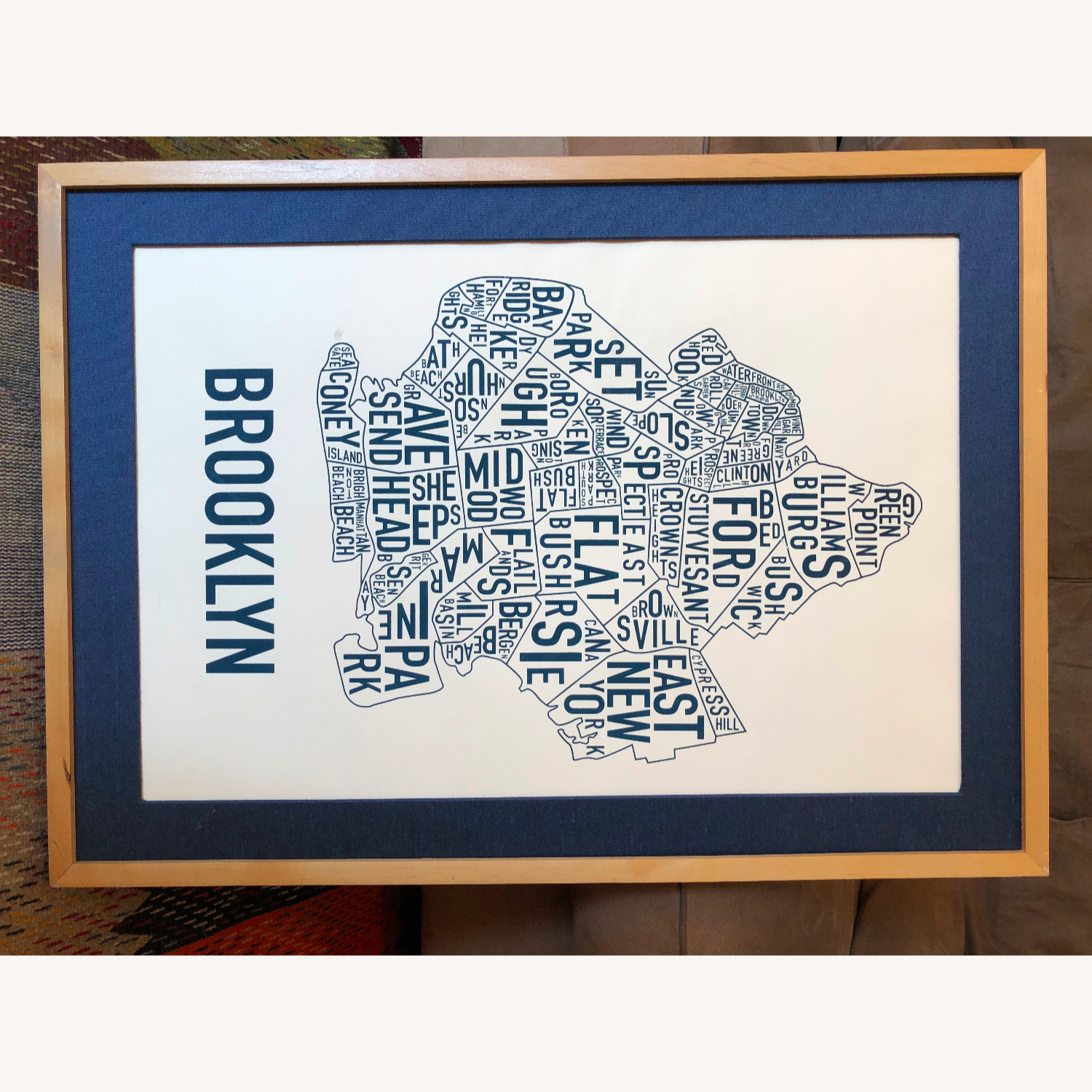 Large Framed Brooklyn Map-Art - image-4