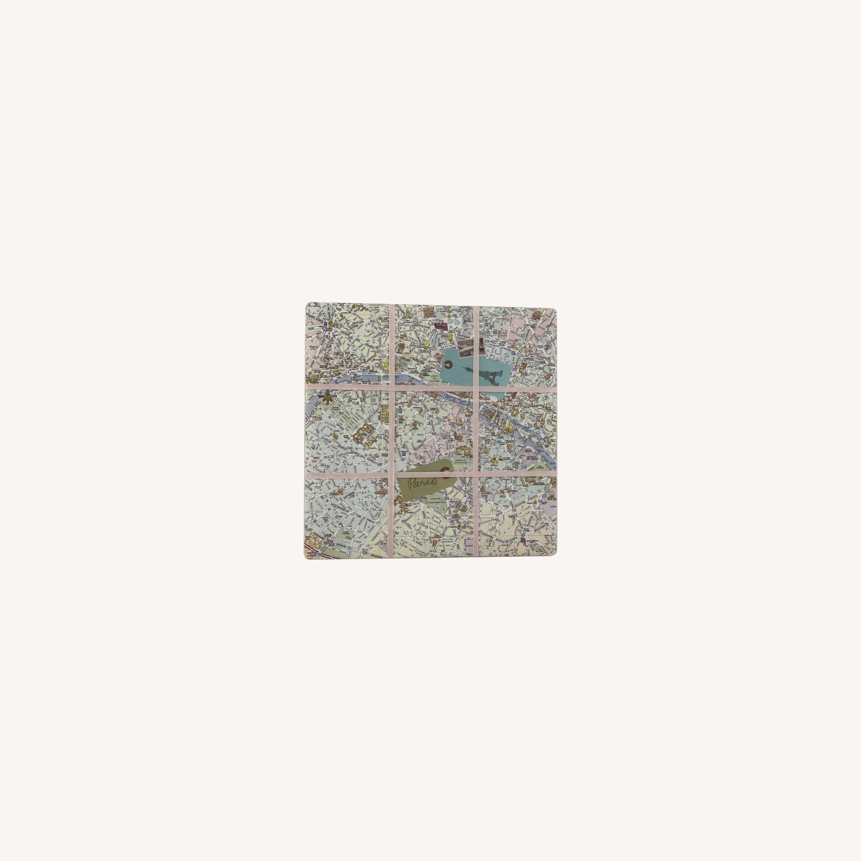 Pink Map Of Paris Wall Hanging - image-0