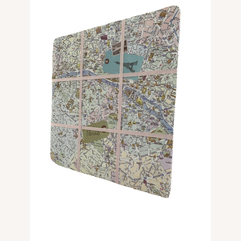 Pink Map Of Paris Wall Hanging - image-3