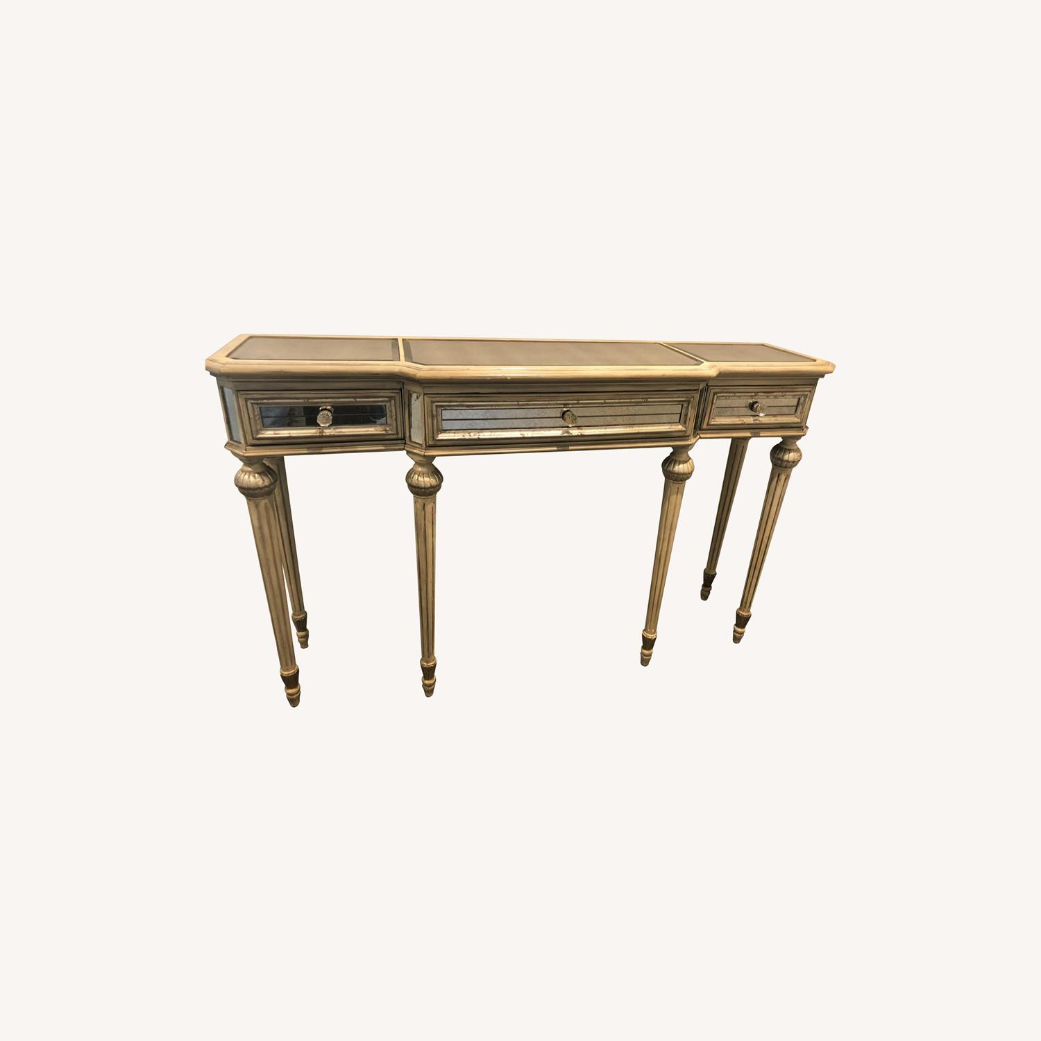 Horchow Vintage French Style Mirrored Side Table - image-0