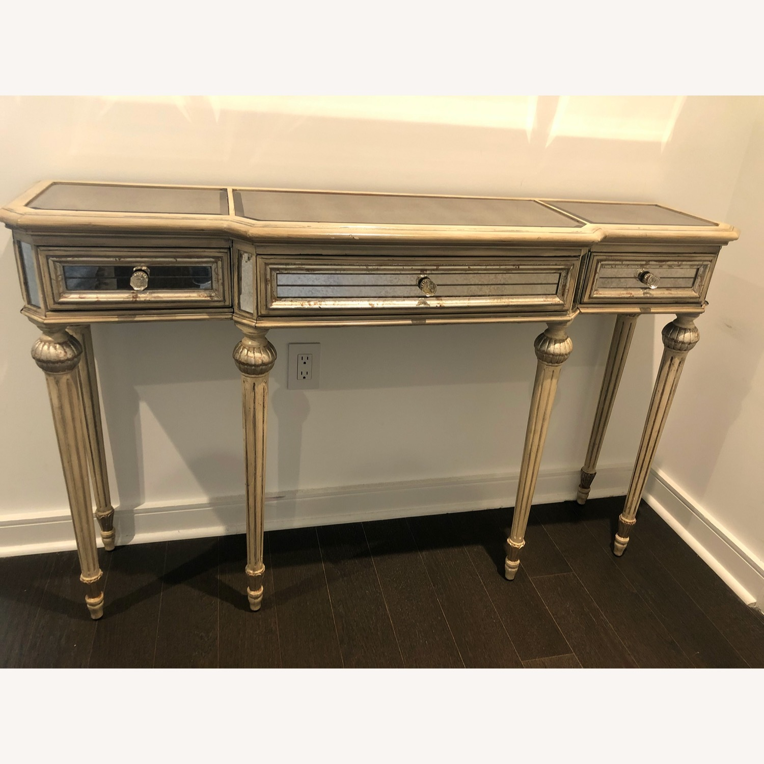Horchow Vintage French Style Mirrored Side Table - image-1