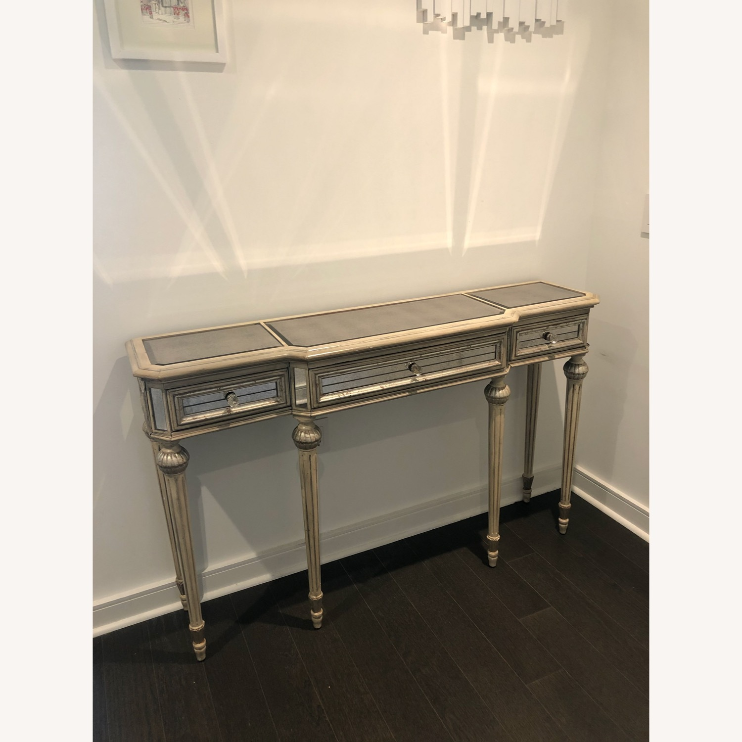 Horchow Vintage French Style Mirrored Side Table - image-2