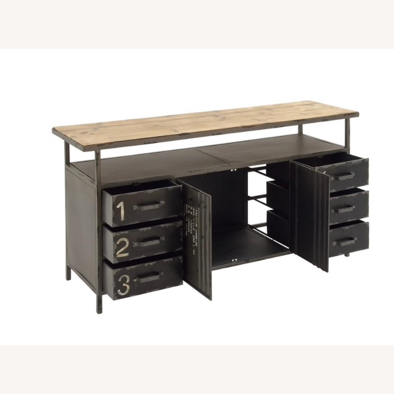 Industrial Six Drawer Buffet w/ top shelf - image-4