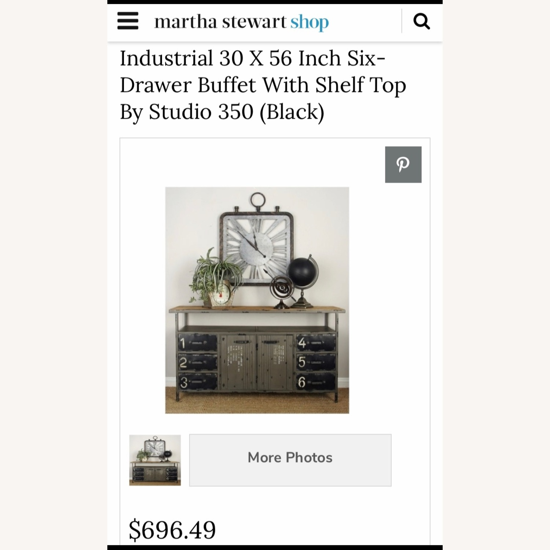 Industrial Six Drawer Buffet w/ top shelf - image-1