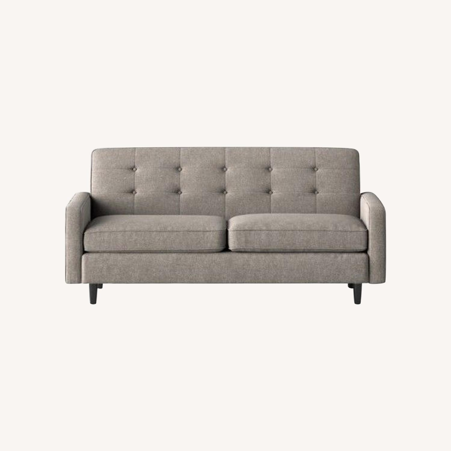 Target Largent Tufted Gray Couch - image-0
