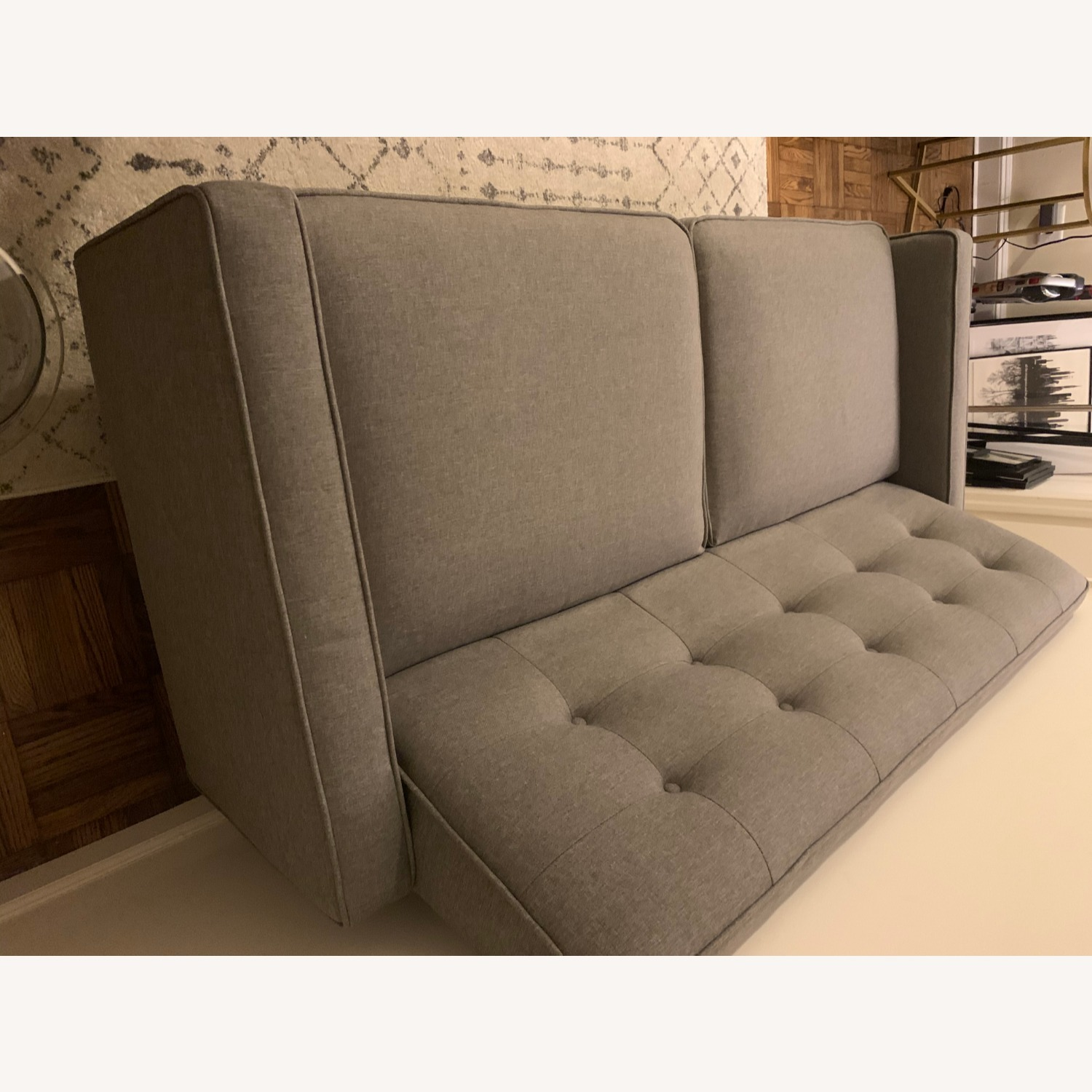 Target Largent Tufted Gray Couch - image-6