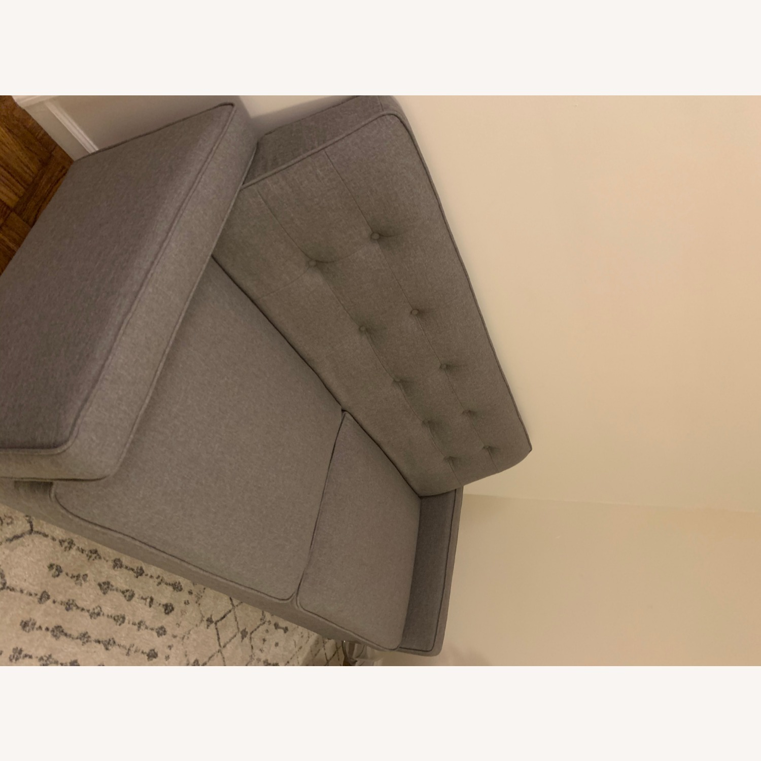 Target Largent Tufted Gray Couch - image-7