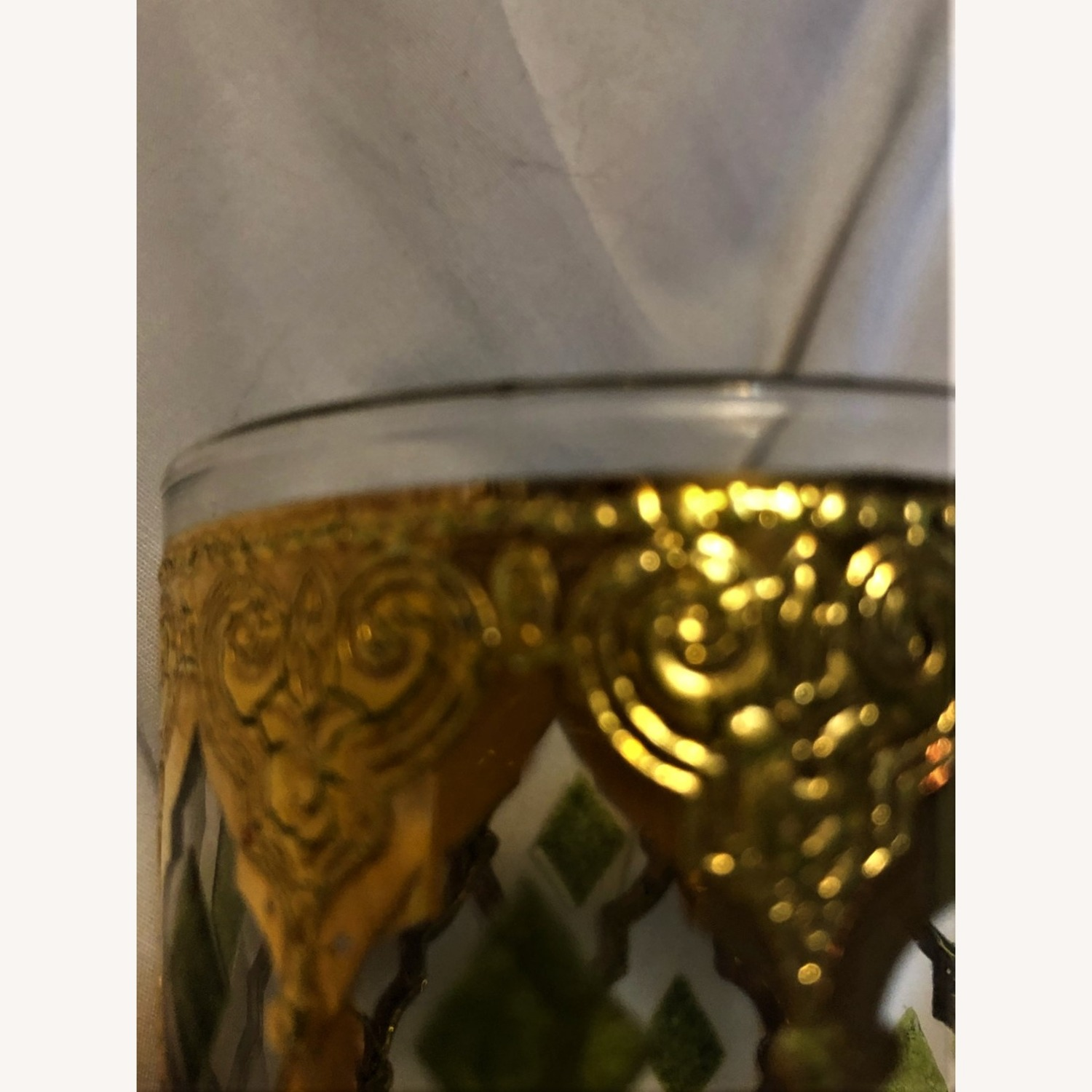 Pair of Mid-Century Gold & Green Culver Glasses - image-4