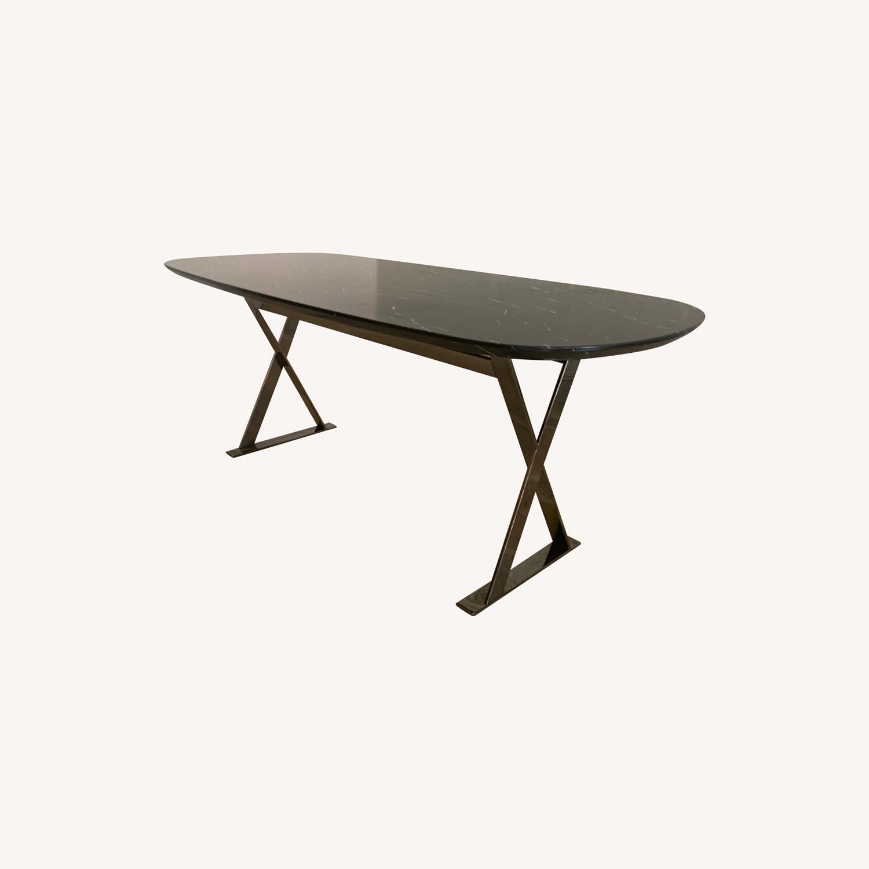Modloft Modern Furniture Black Marble Composite Dining Table - image-0