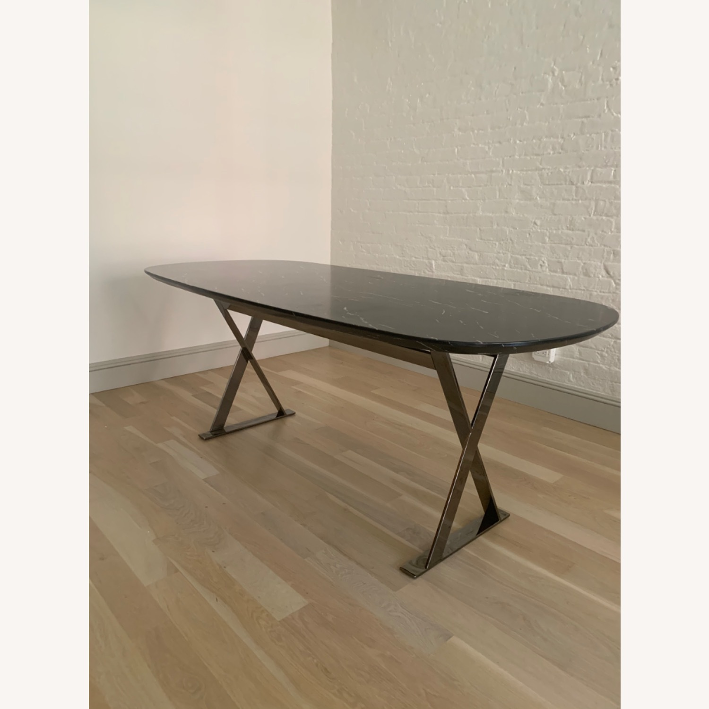 Modloft Modern Furniture Black Marble Composite Dining Table - image-1