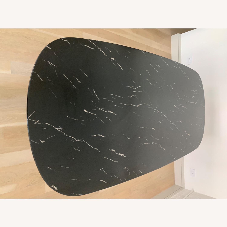 Modloft Modern Furniture Black Marble Composite Dining Table - image-7