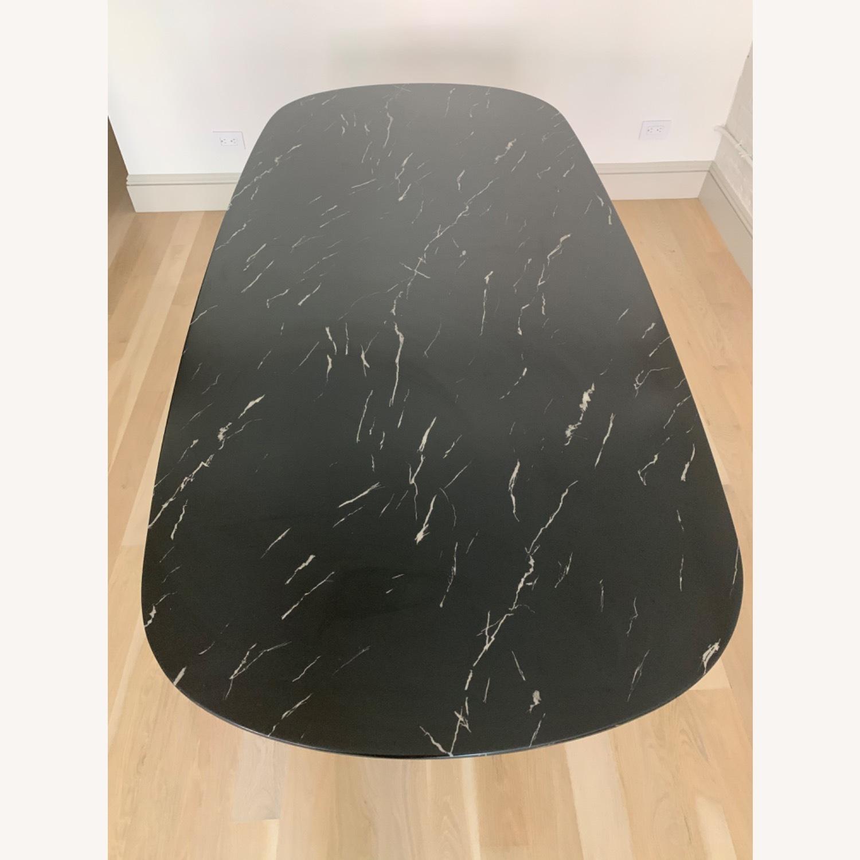 Modloft Modern Furniture Black Marble Composite Dining Table - image-3