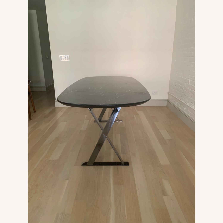 Modloft Modern Furniture Black Marble Composite Dining Table - image-2
