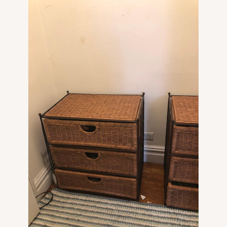 Shelf Wicker Baskets Storage - 3 Drawer - image-3