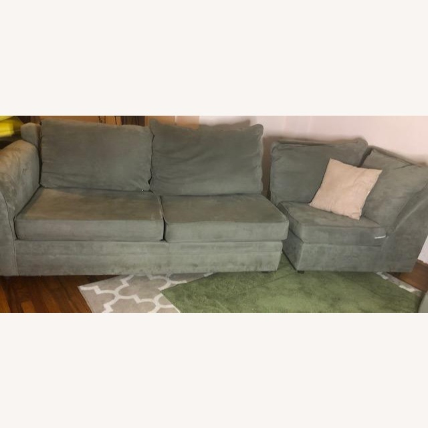 Bob's Discount Right Arm 2 Seater Sofa and Corner Chair - image-2