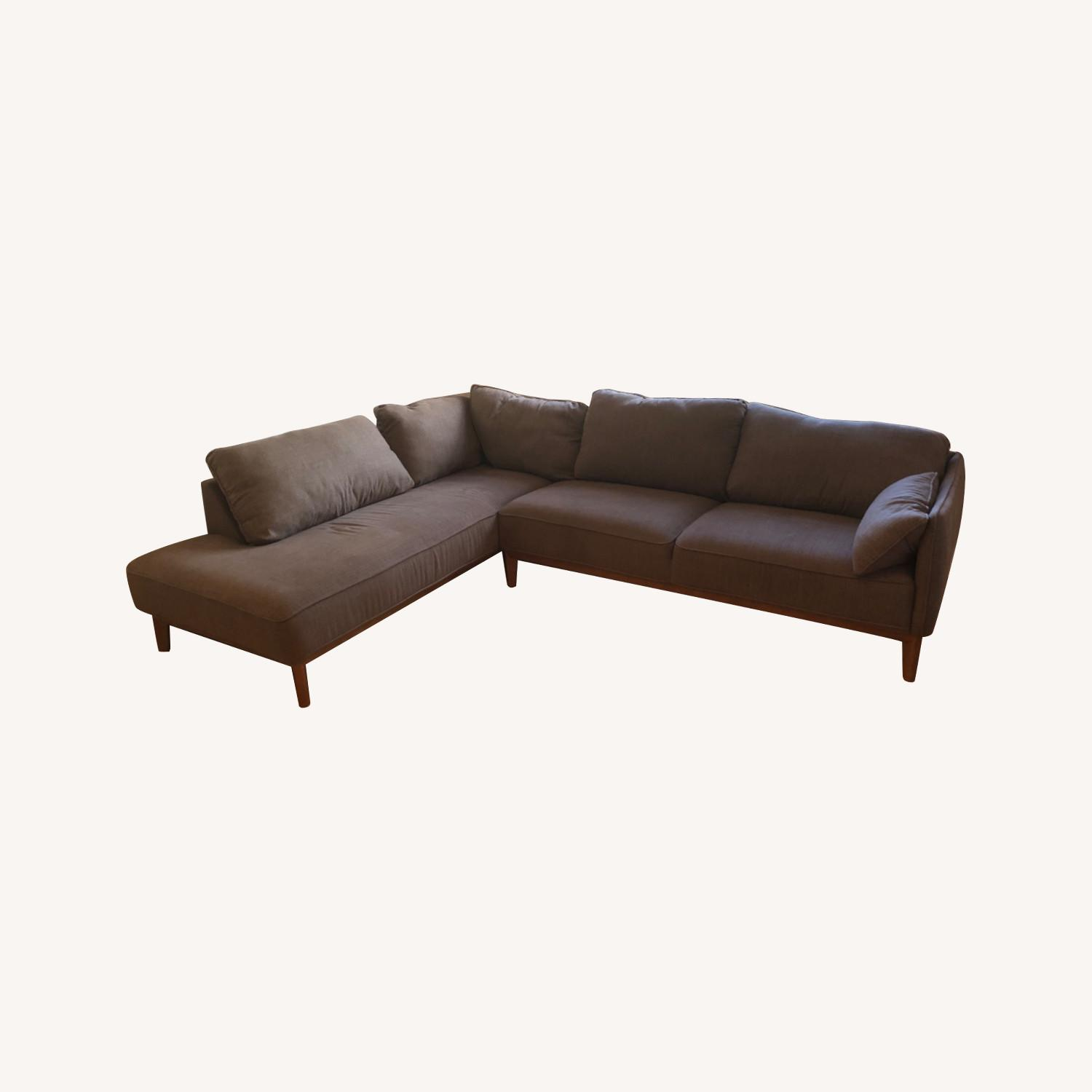 Macy's 2-Piece Grey Sectional - image-0