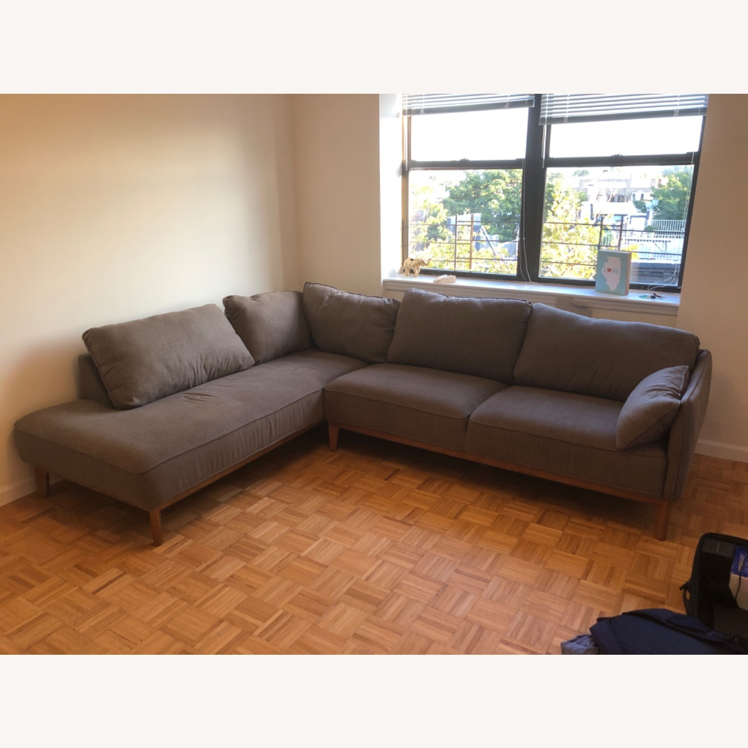 Macy's 2-Piece Grey Sectional - image-1
