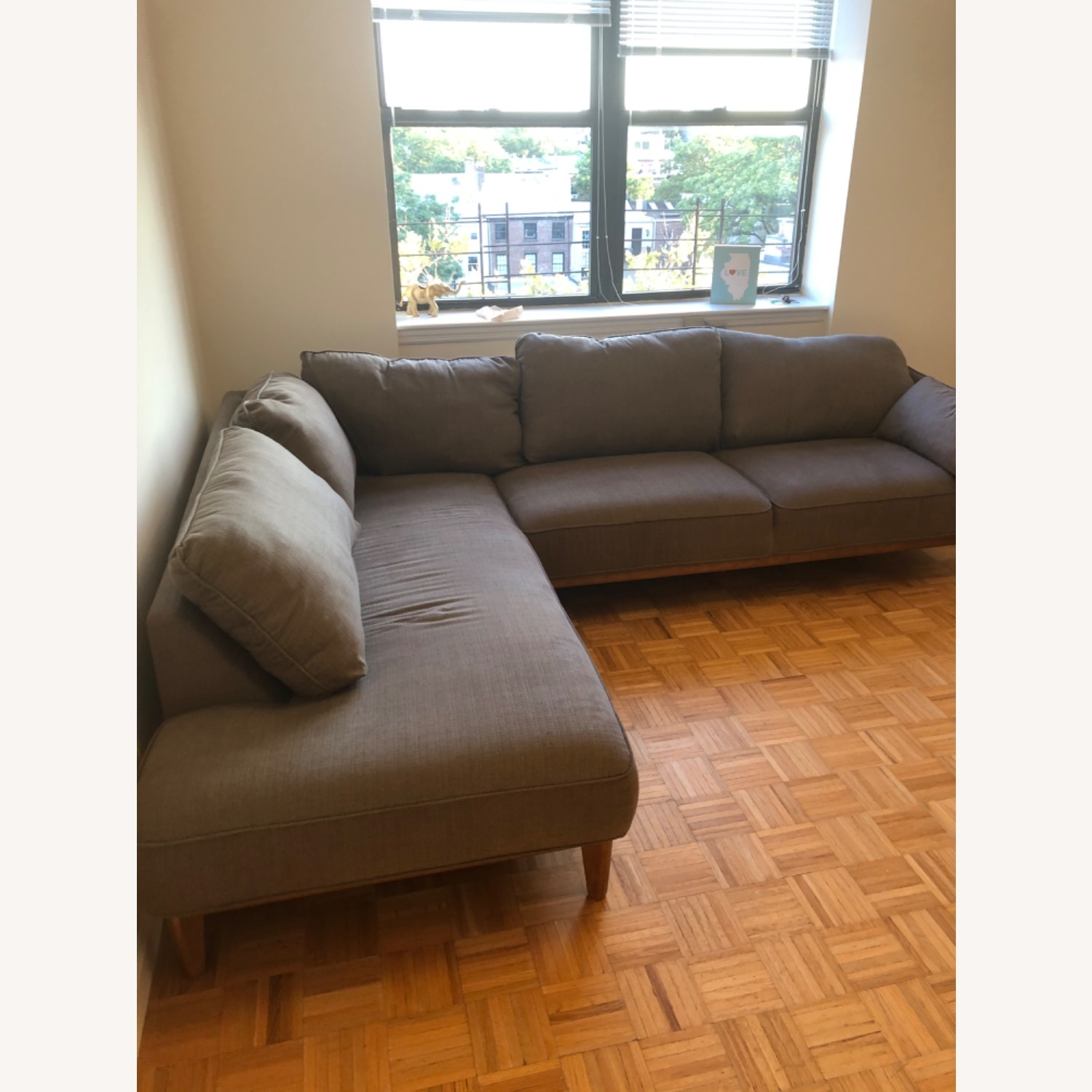Macy's 2-Piece Grey Sectional - image-2
