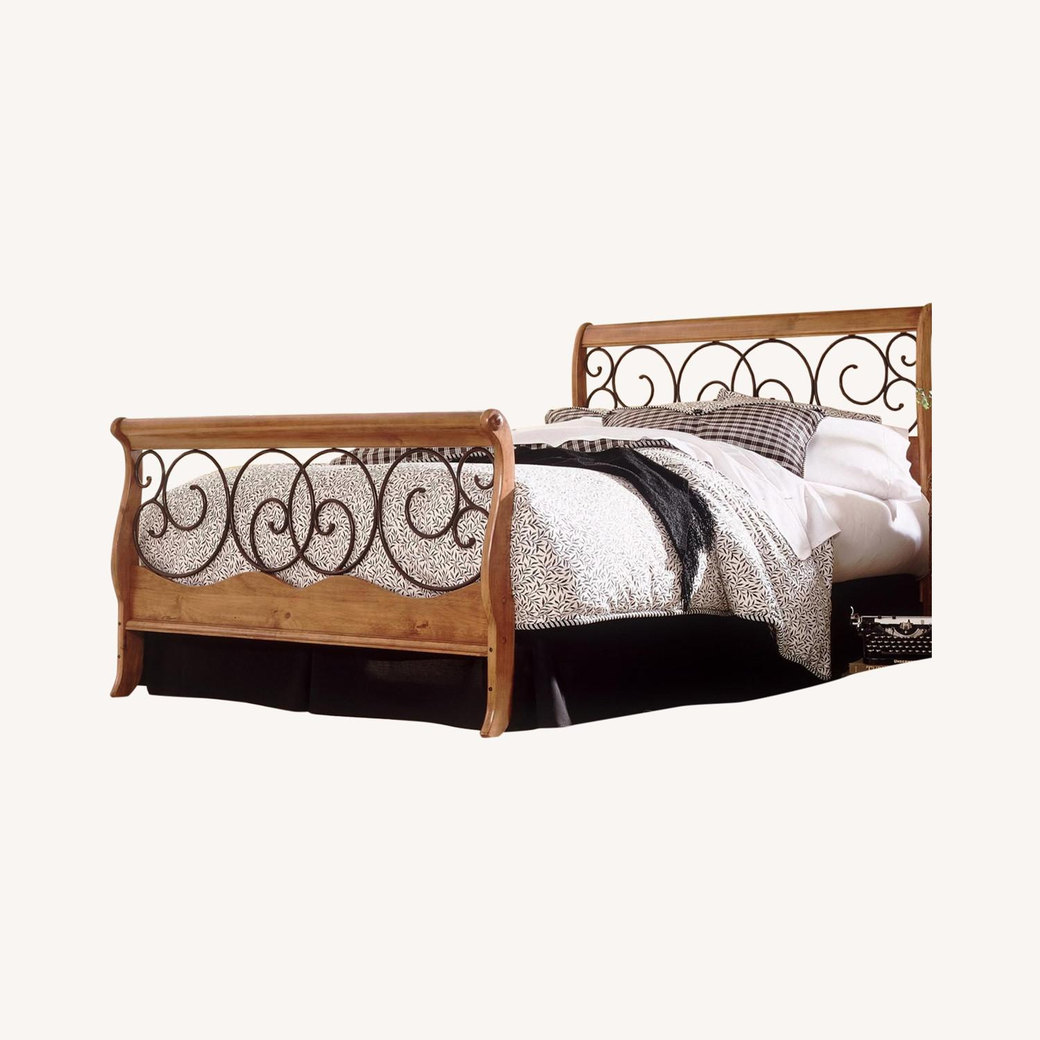Wayfair Wood and Metal Sleigh Bed - image-0