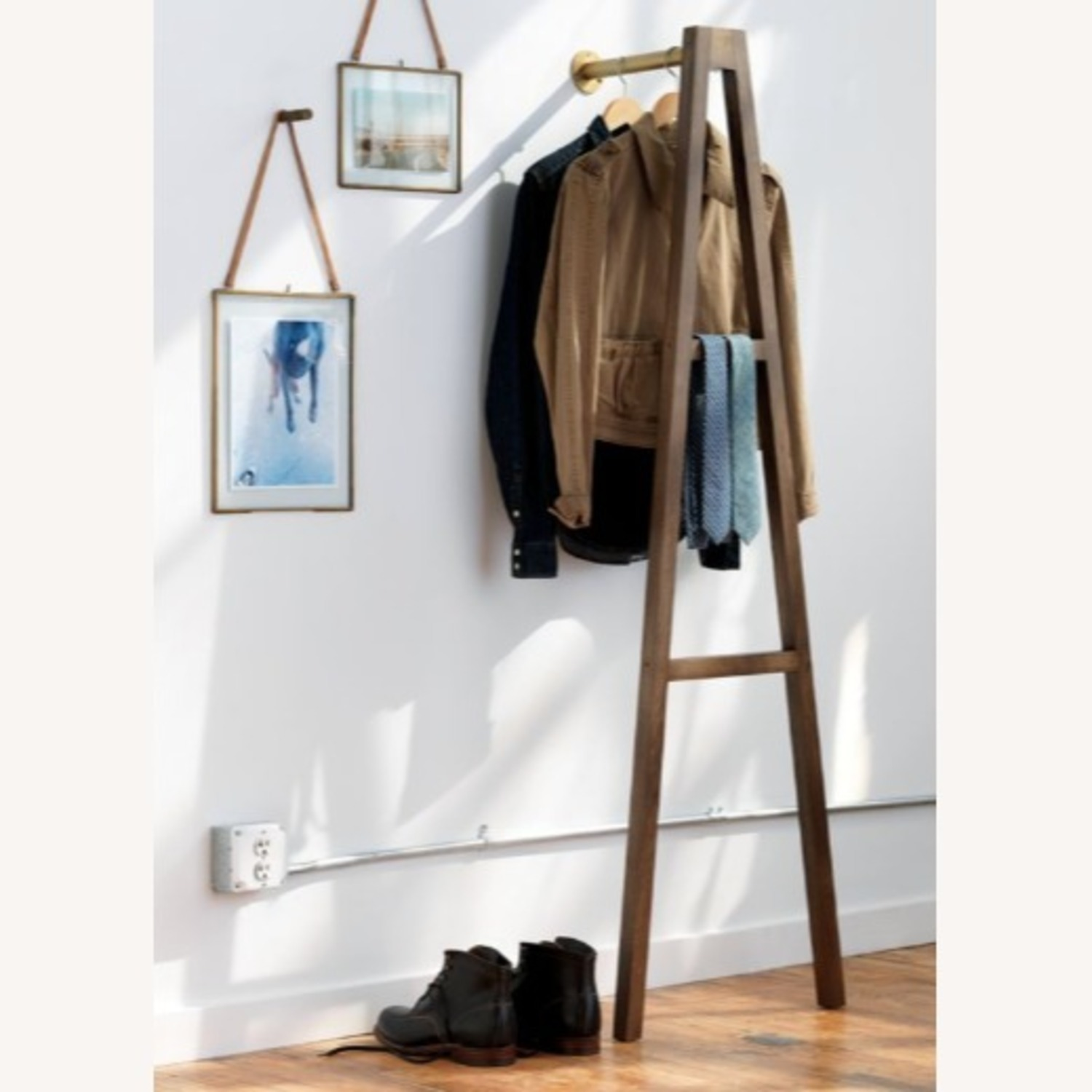 CB2 Crossbar Wall-mounted Clothes Stand - image-1