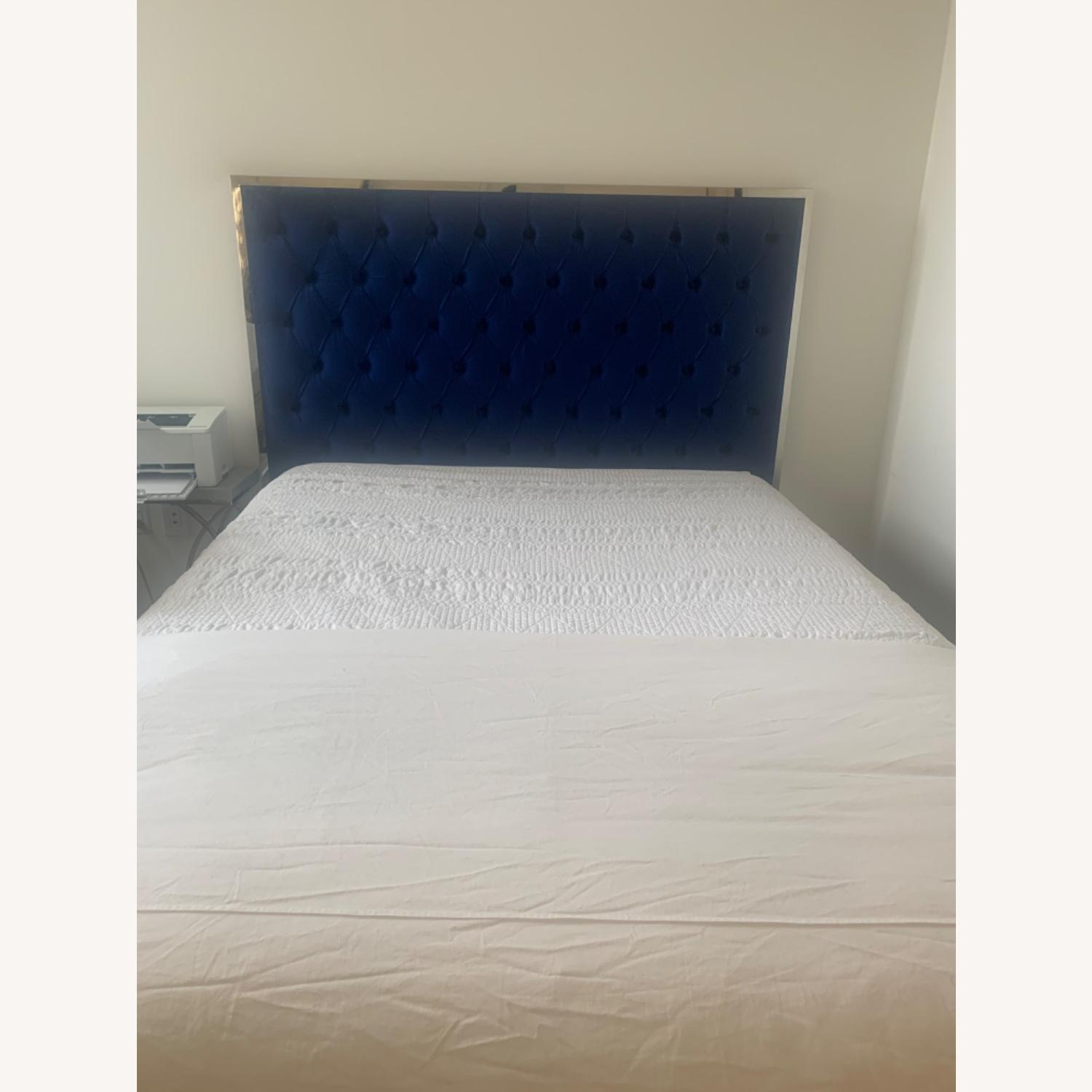 Navy Upholstered Platform Bed by Everly Quinn - image-1