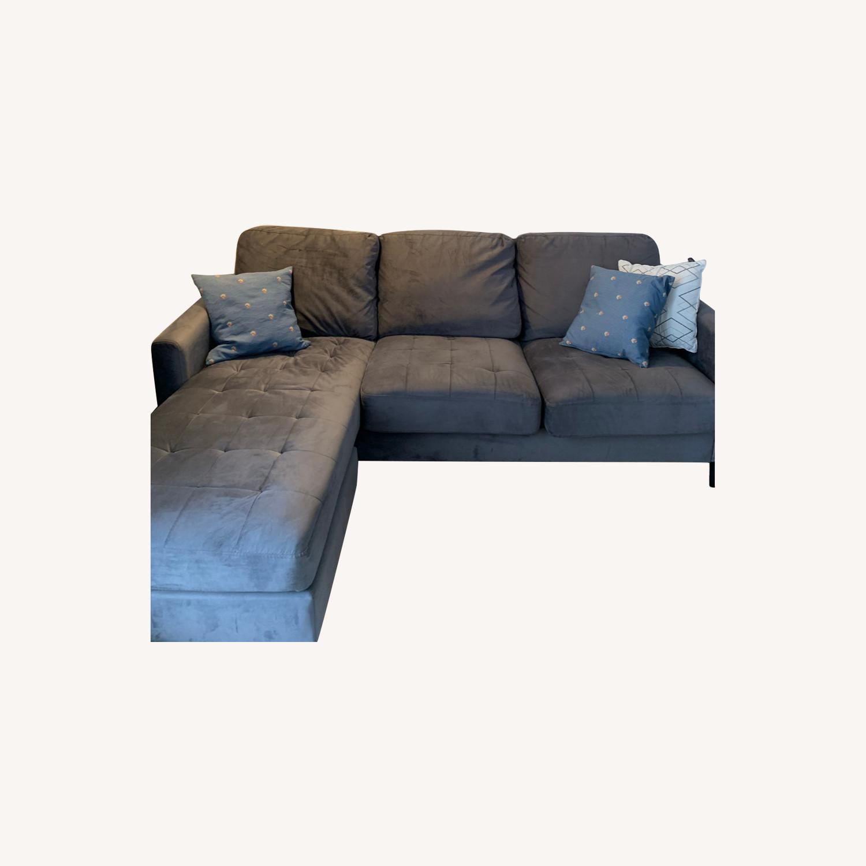 Wayfair 2 Piece Grey Sectional - image-0