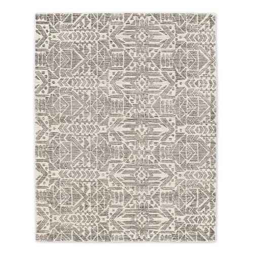 Used West Elm Hieroglyph Print Wool Rug for sale on AptDeco