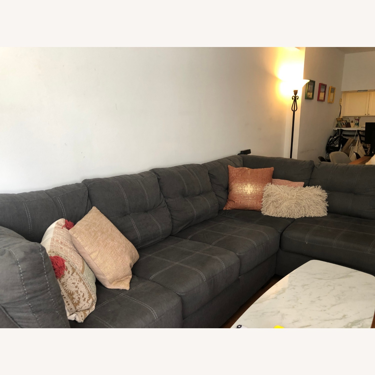 Jennifer Convertibles Sectional Sofa with Chaise - image-2