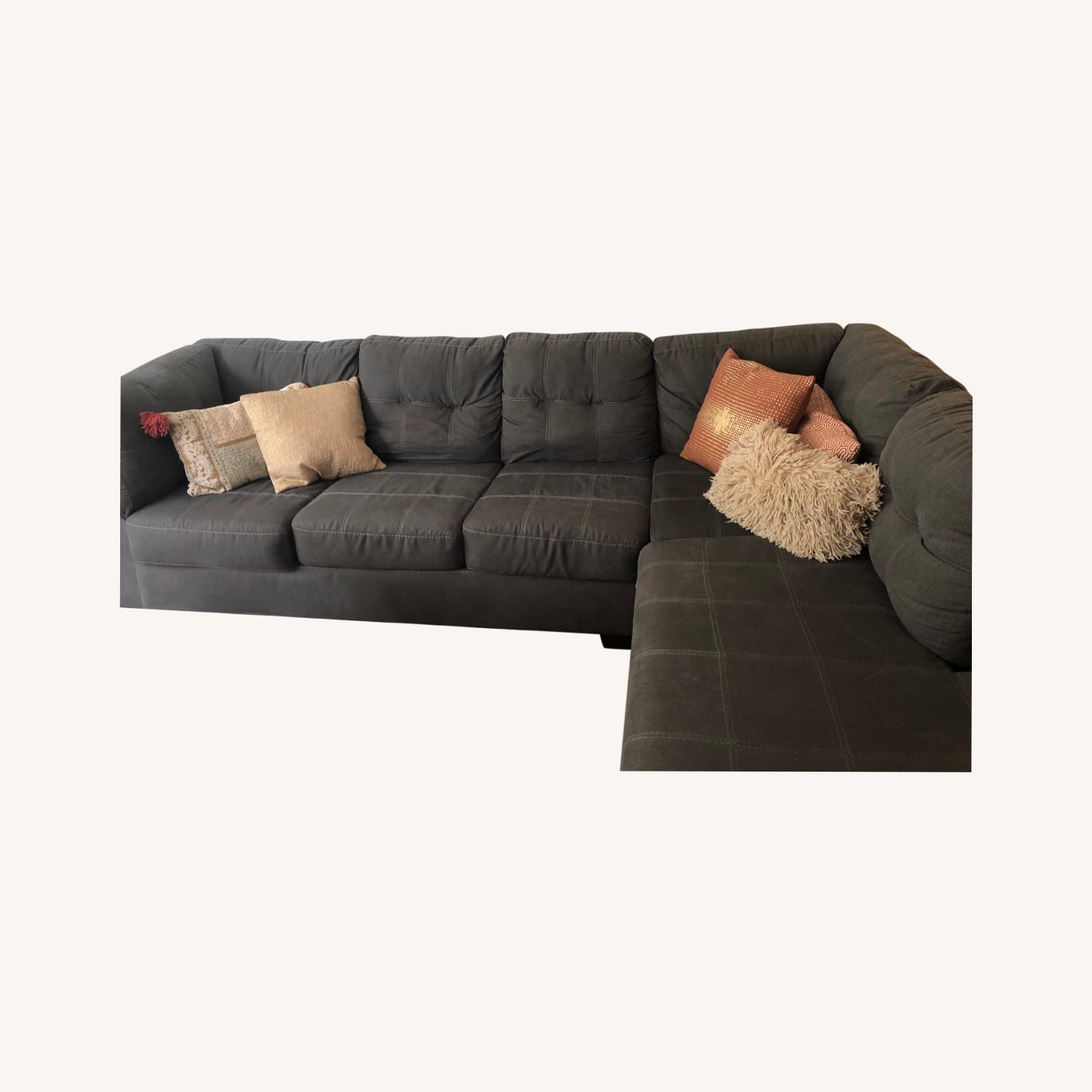 Jennifer Convertibles Sectional Sofa with Chaise - image-0