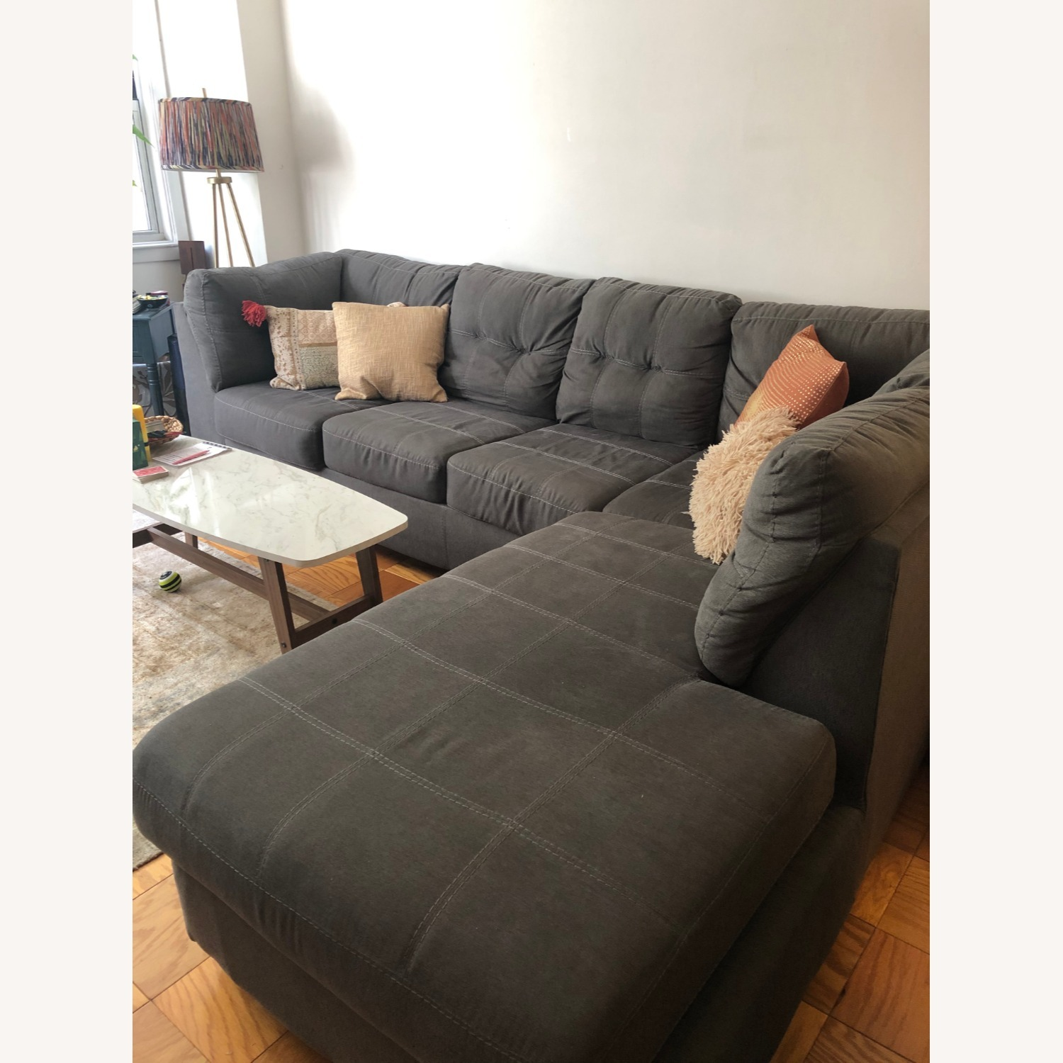 Jennifer Convertibles Sectional Sofa with Chaise - image-3