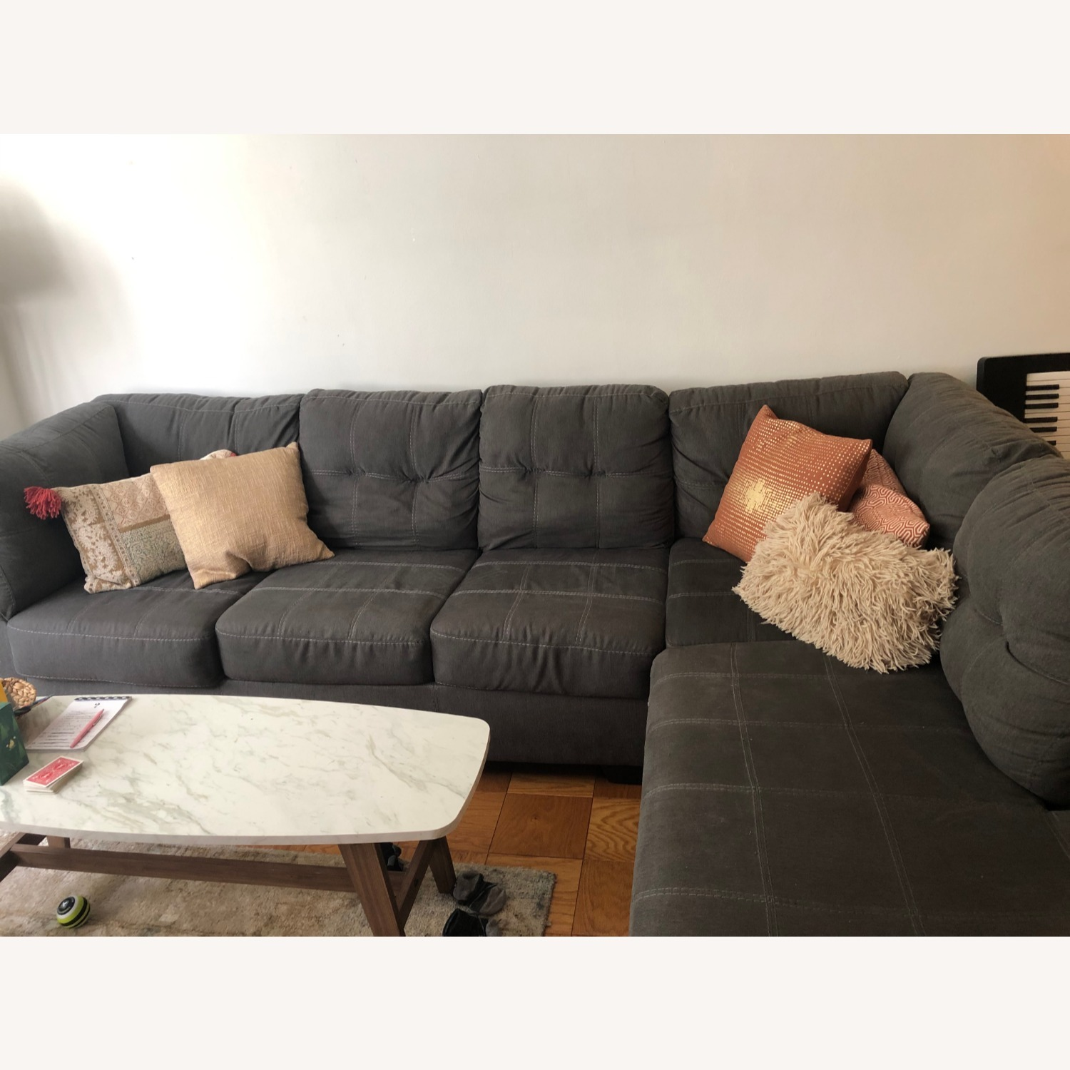 Jennifer Convertibles Sectional Sofa with Chaise - image-1