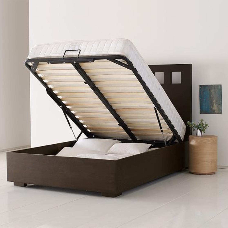 West Elm Storage Queen Bed with Headboard - image-3