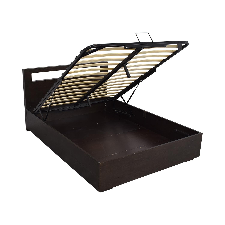 West Elm Storage Queen Bed with Headboard - image-6