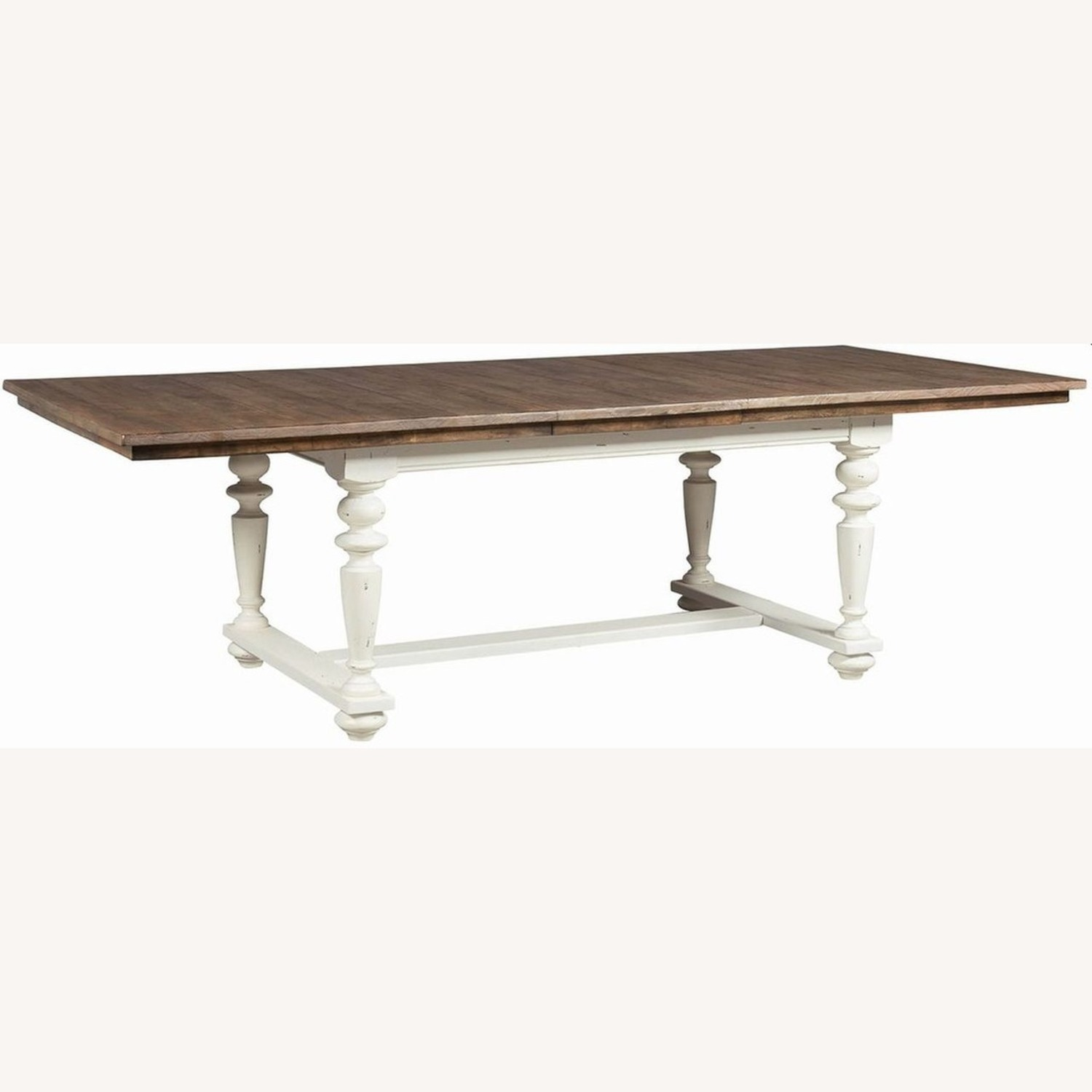 Rustic Dining Table In Vintage White - image-0