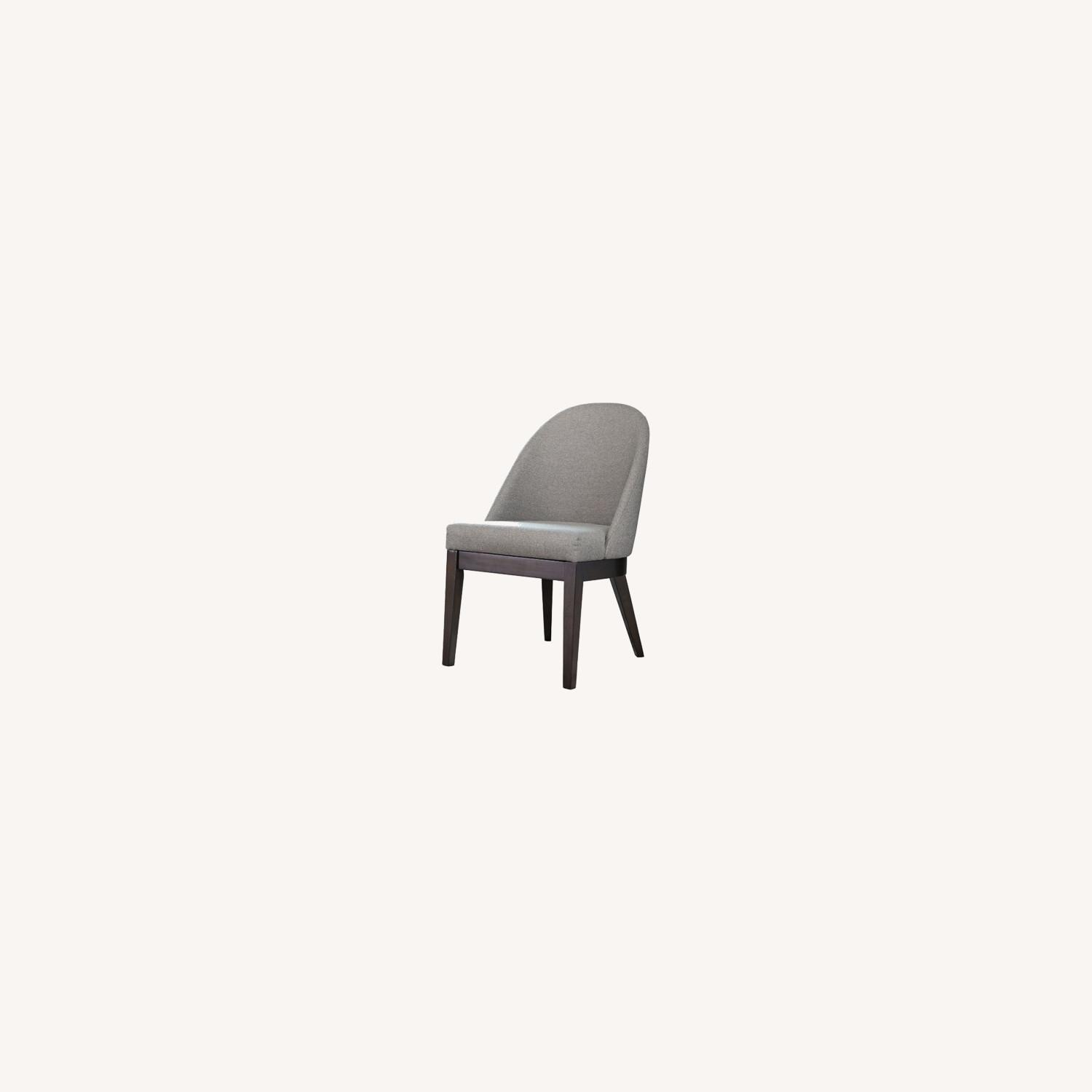 Glamorous Dining Chair In Light Grey Fabric - image-3