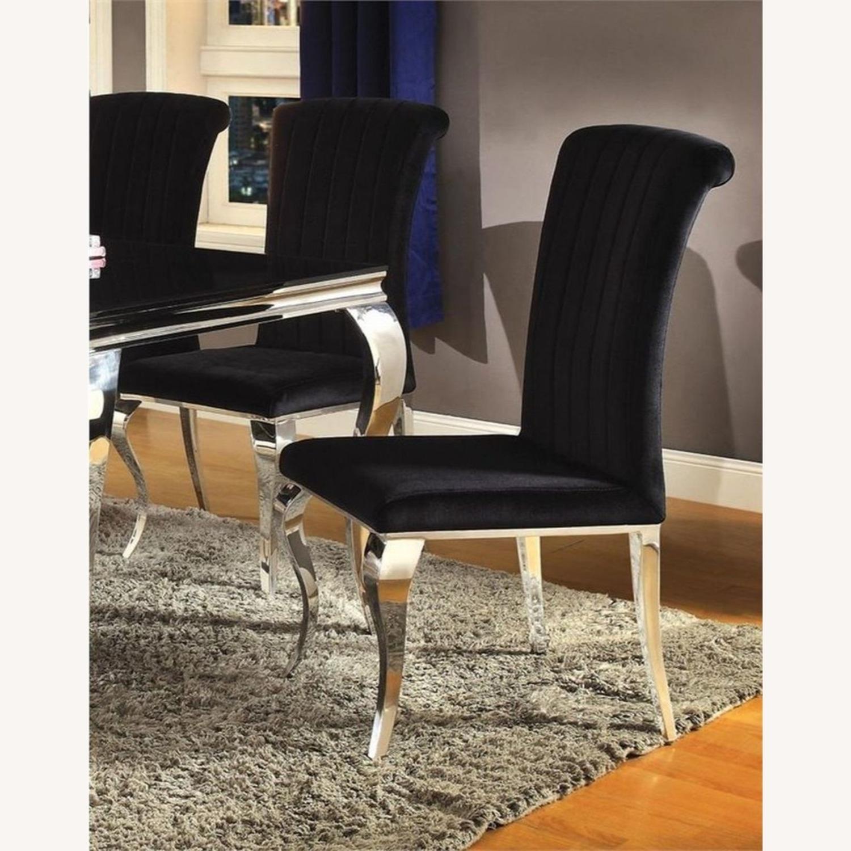 Side Chair In Black Velvet - image-3