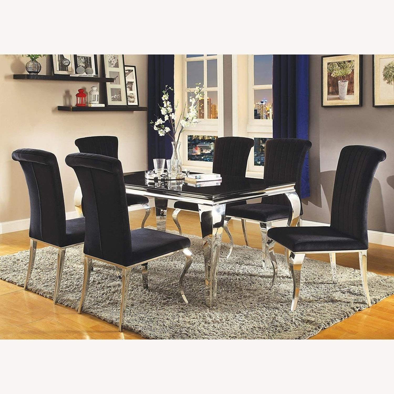 Side Chair In Black Velvet - image-4