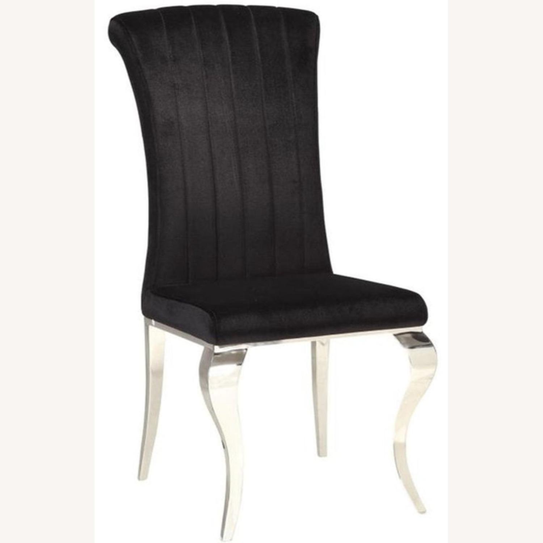 Side Chair In Black Velvet - image-0