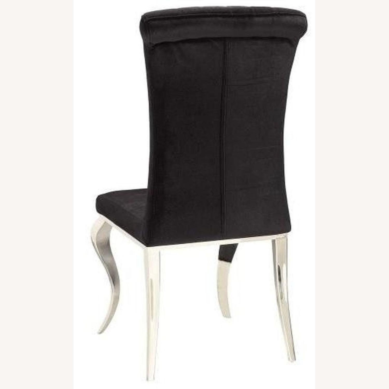 Side Chair In Black Velvet - image-2