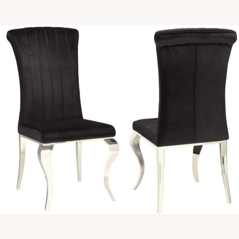 Side Chair In Black Velvet - image-1