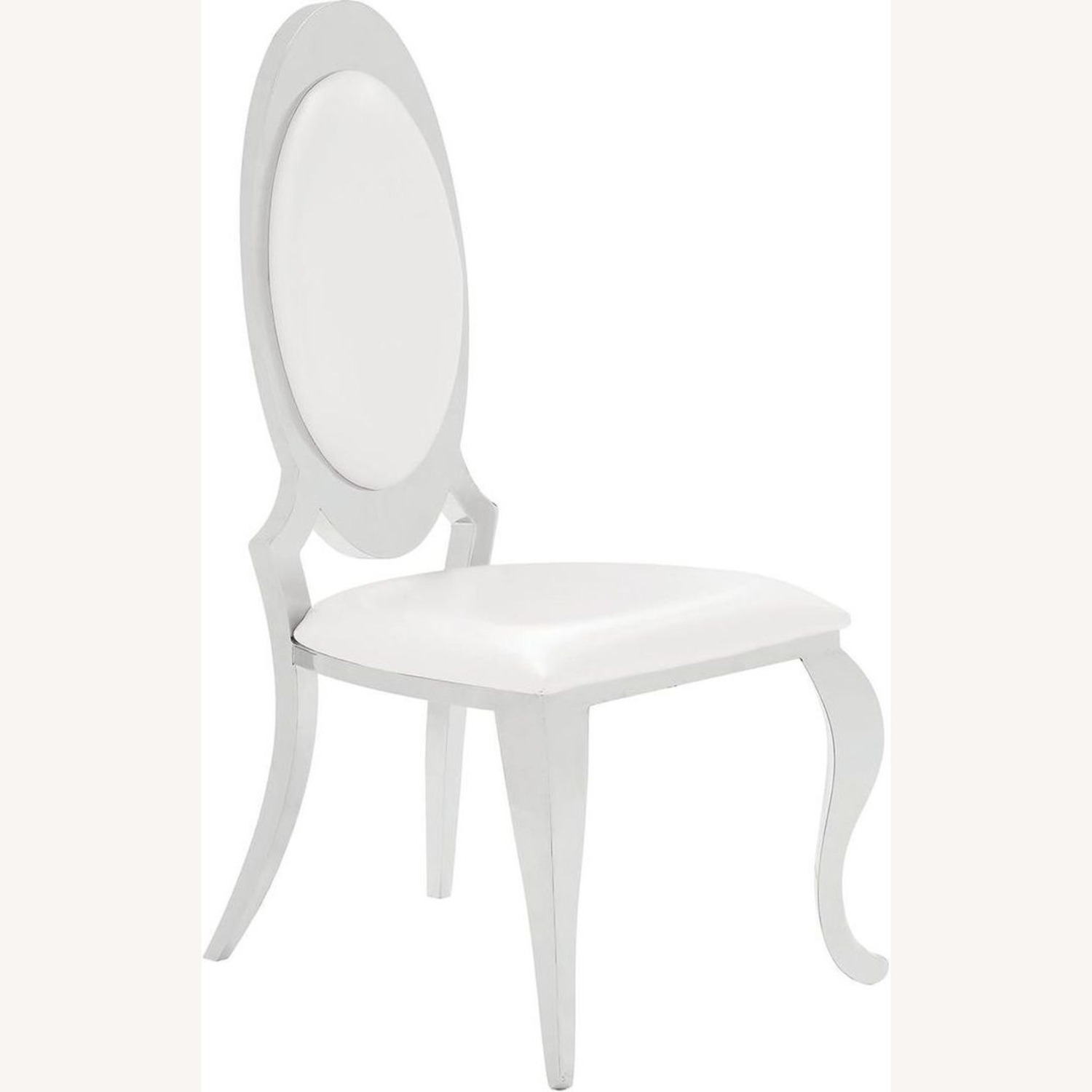 Modern Side Chair In Creamy White Upholstery - image-0