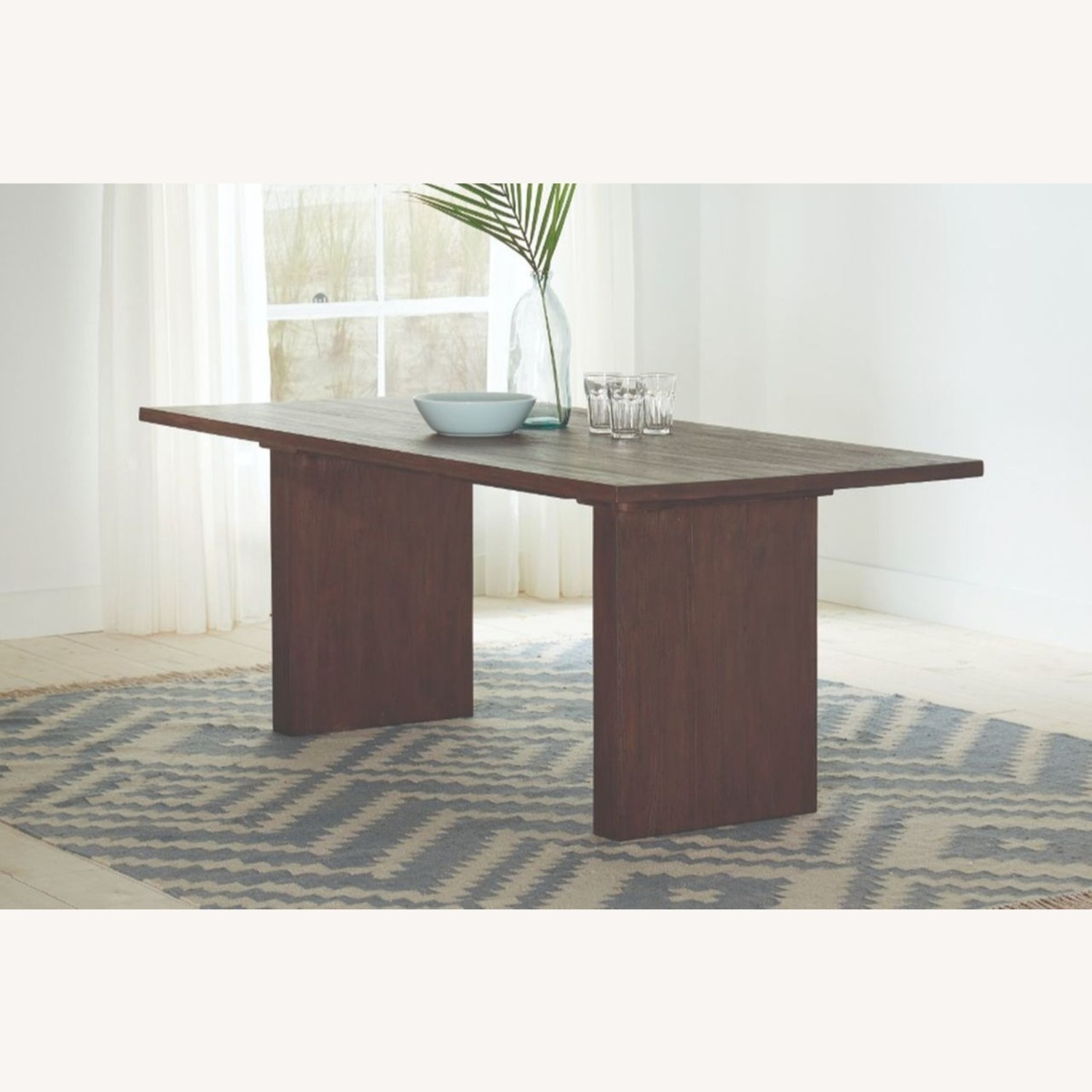 Modern Dining Table In Solid Mahogany - image-3