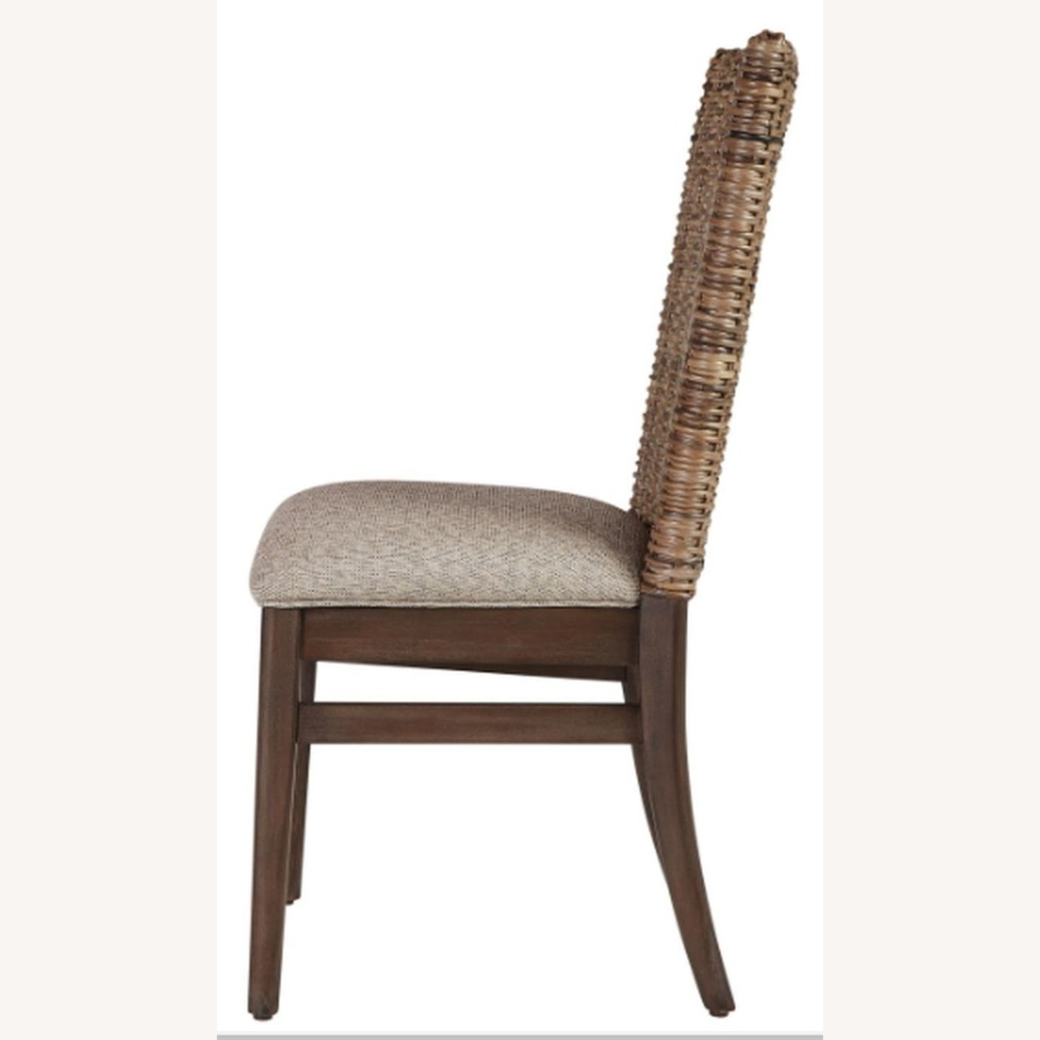 Modern Dining Chair Upholstered In Light Taupe - image-2
