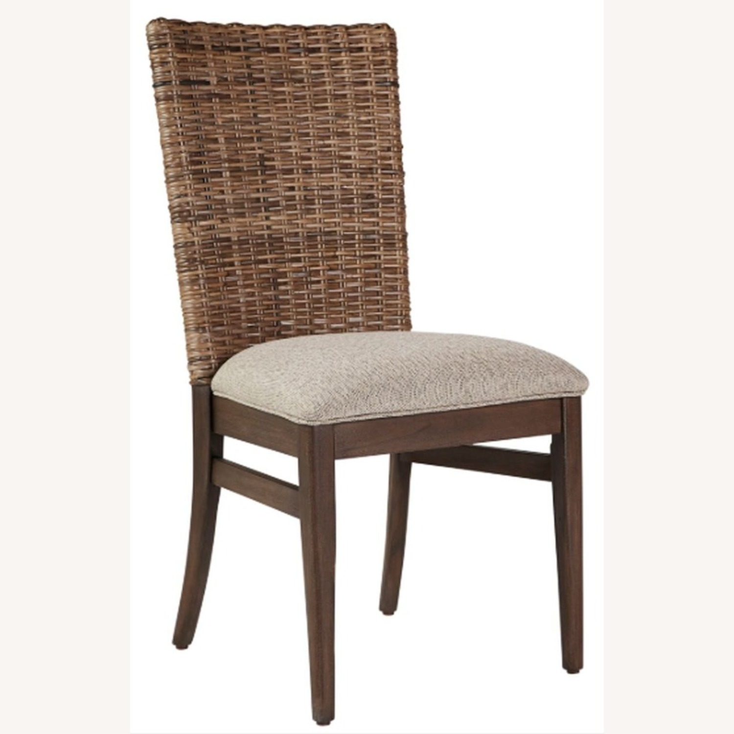 Modern Dining Chair Upholstered In Light Taupe - image-0