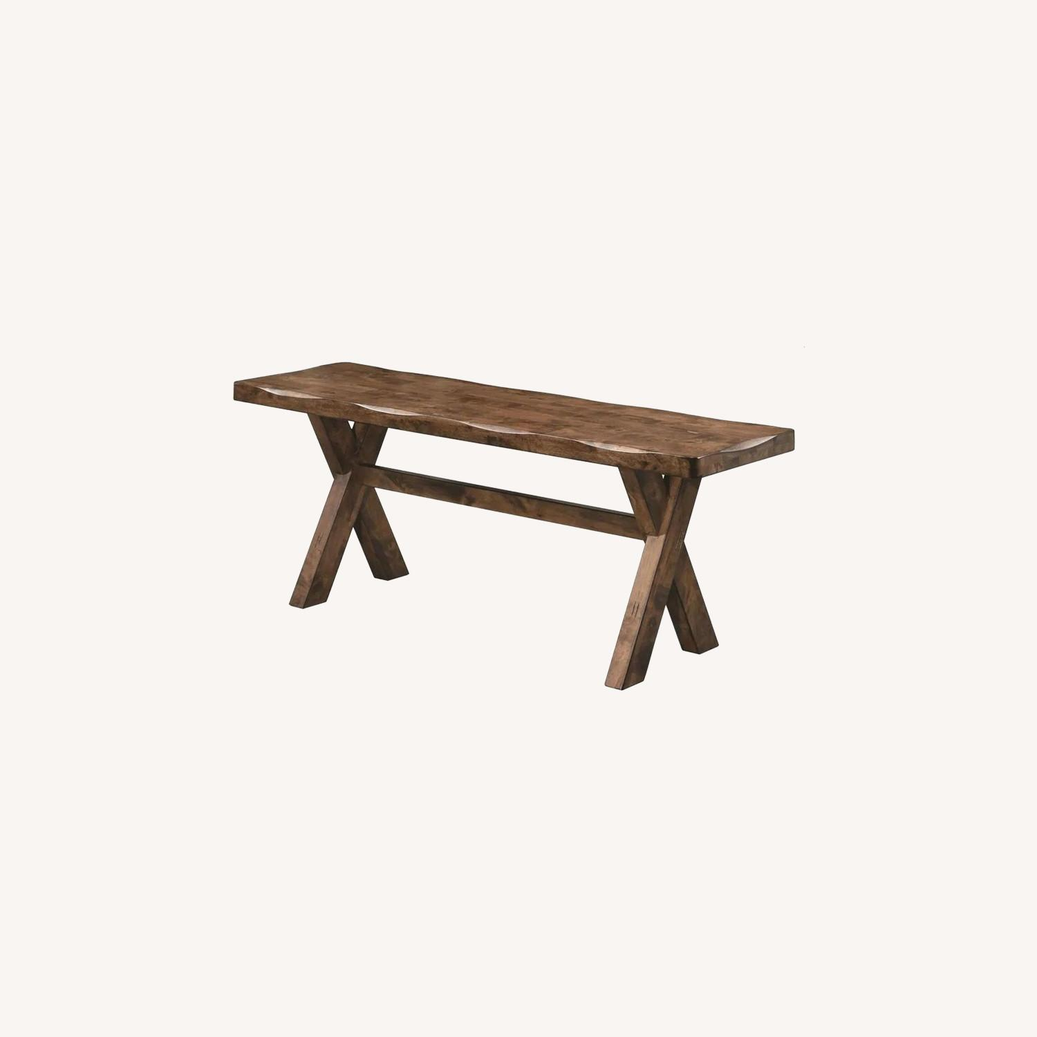 Rustic 47-In Dining Bench In Knotty Nutmeg - image-3