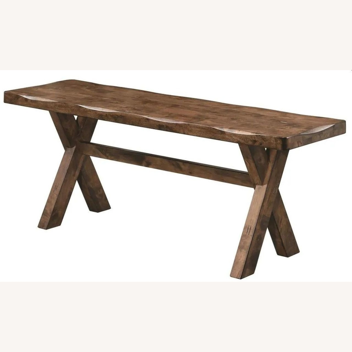 Rustic 47-In Dining Bench In Knotty Nutmeg - image-0