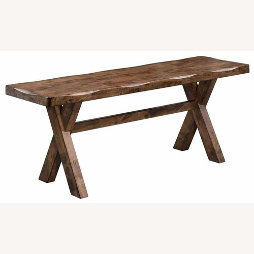 Used Rustic 47-In Dining Bench In Knotty Nutmeg for sale on AptDeco
