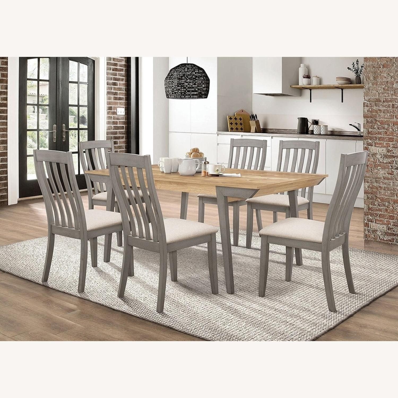 Modern Side Chair In Coastal Grey Fabric - image-2