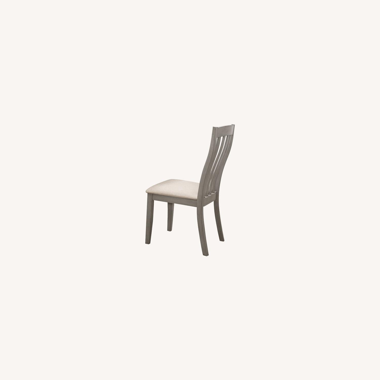 Modern Side Chair In Coastal Grey Fabric - image-3