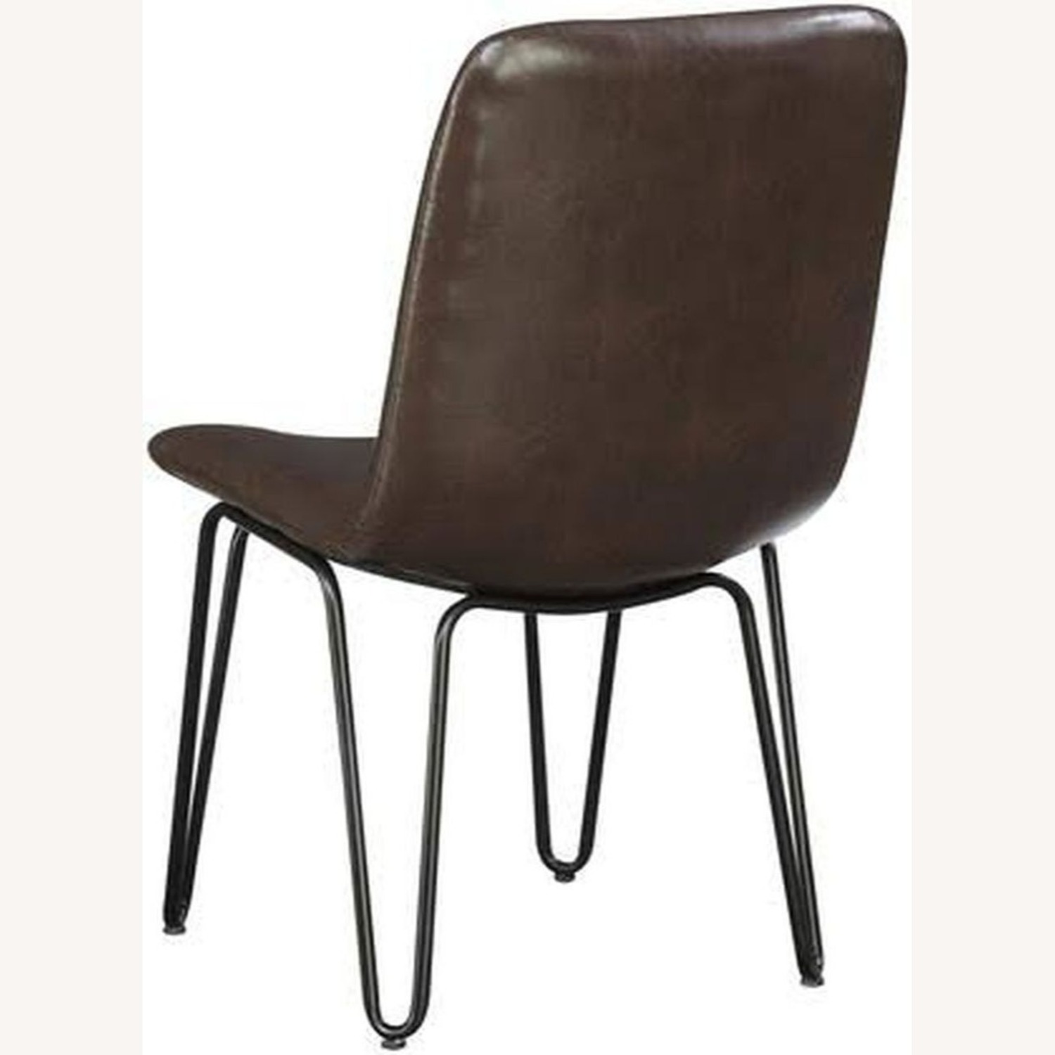 Modern Side Chair Wrapped In Brown Leatherette - image-2